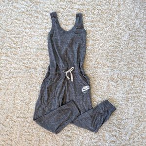 SOLD! Nike WMs Gray Cross-back Jumpsuit Size Large